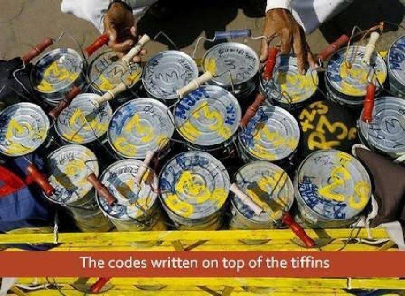 Codes on Mumbai Dabbawalas tiffins