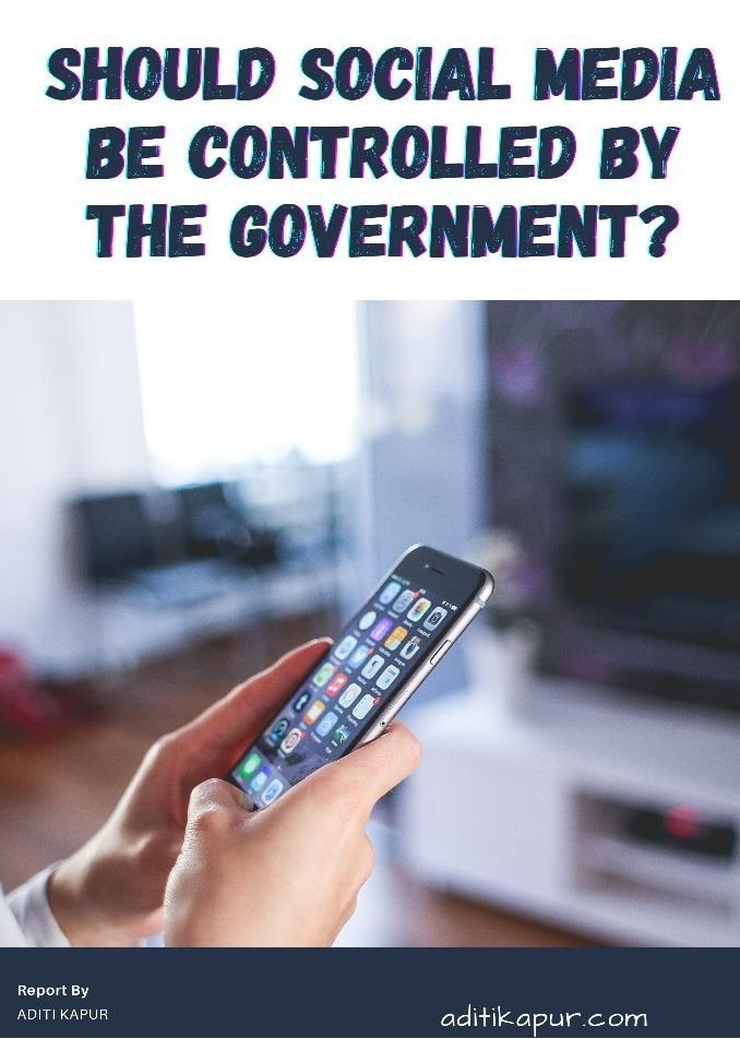 Should social media be controlled by the Government?